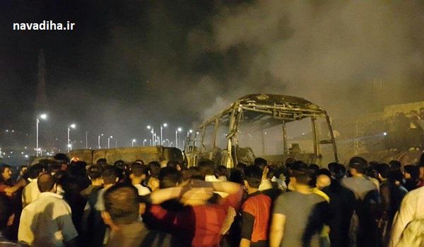 از حاشیه و متن تصادف تانکر سوخت با اتوبوس