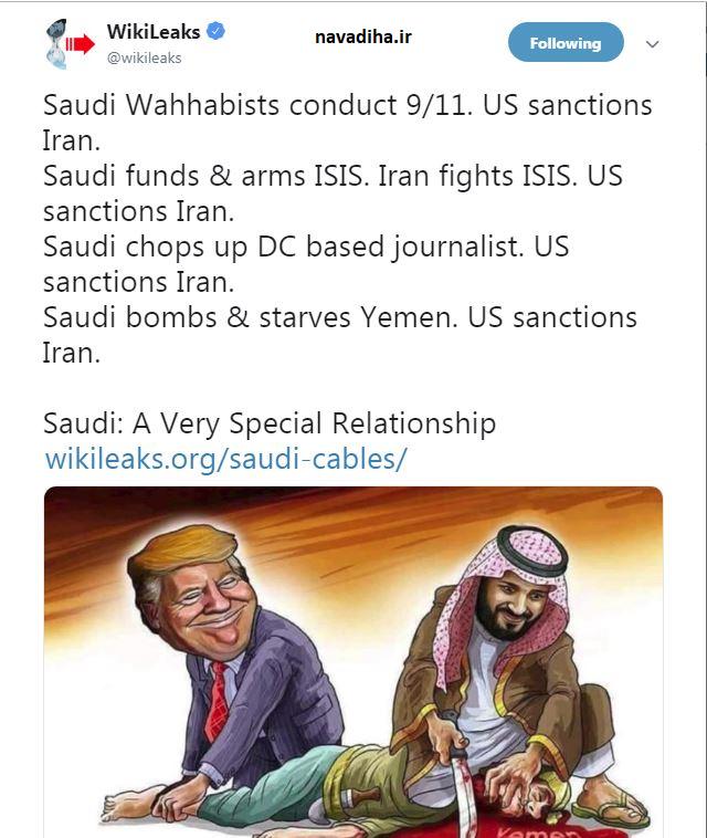 توئیت جالب ویکی لیکس درباره ایران