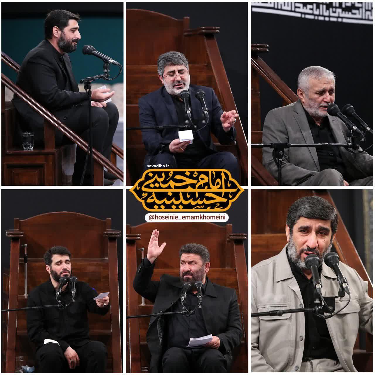 فیلم مداحی های شهادت امام سجاد (ع) بیت رهبری ۹۹